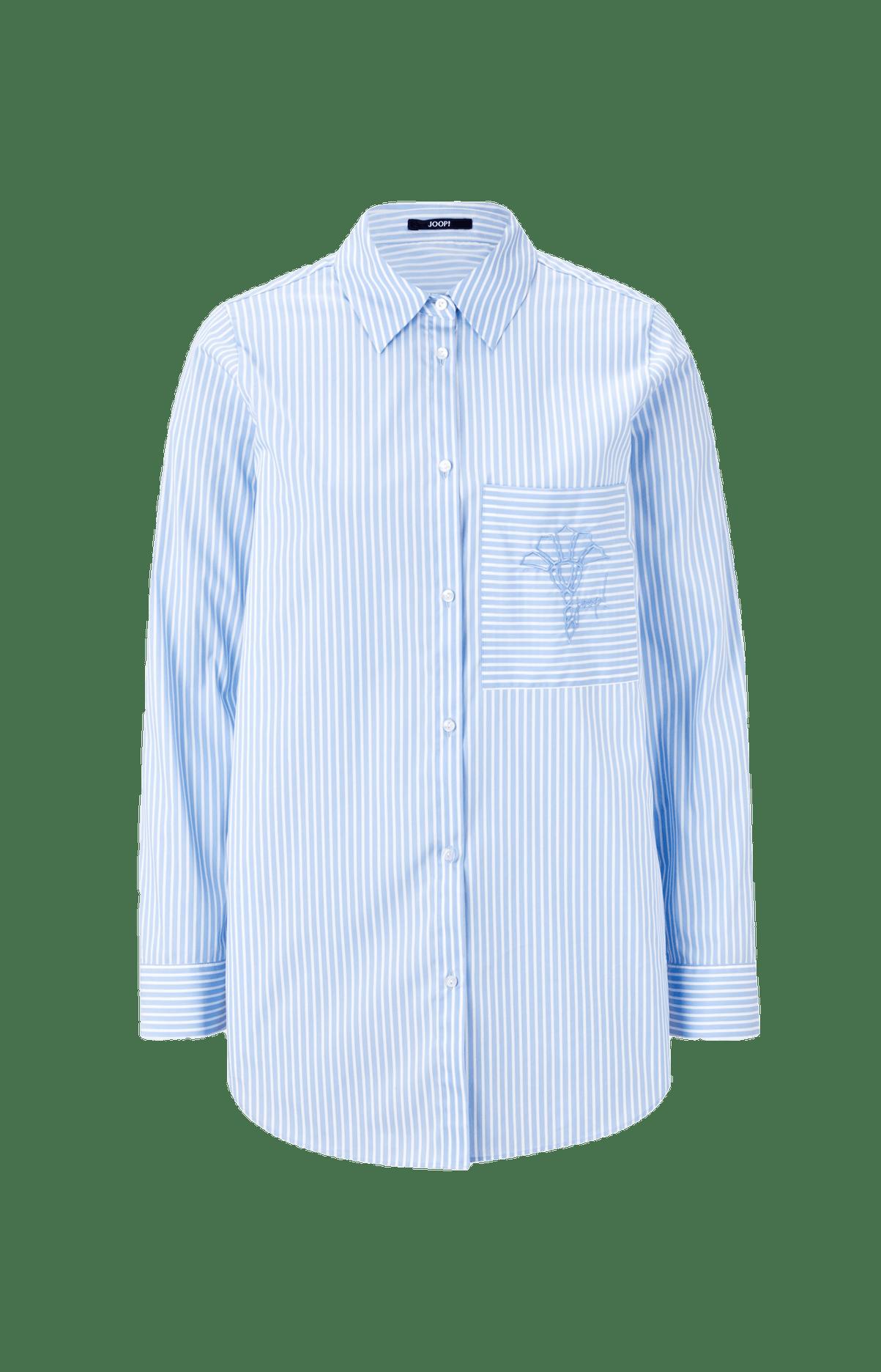 Bluse Bine in Hellblau/Weiß gestreift