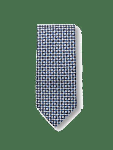 Krawatte aus Seide mit Karomuster.