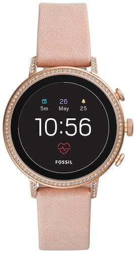 Cette montre FOSSIL Q se compose d'un boîtier Rond de 40 mm et d'un bracelet en Silicone Beige