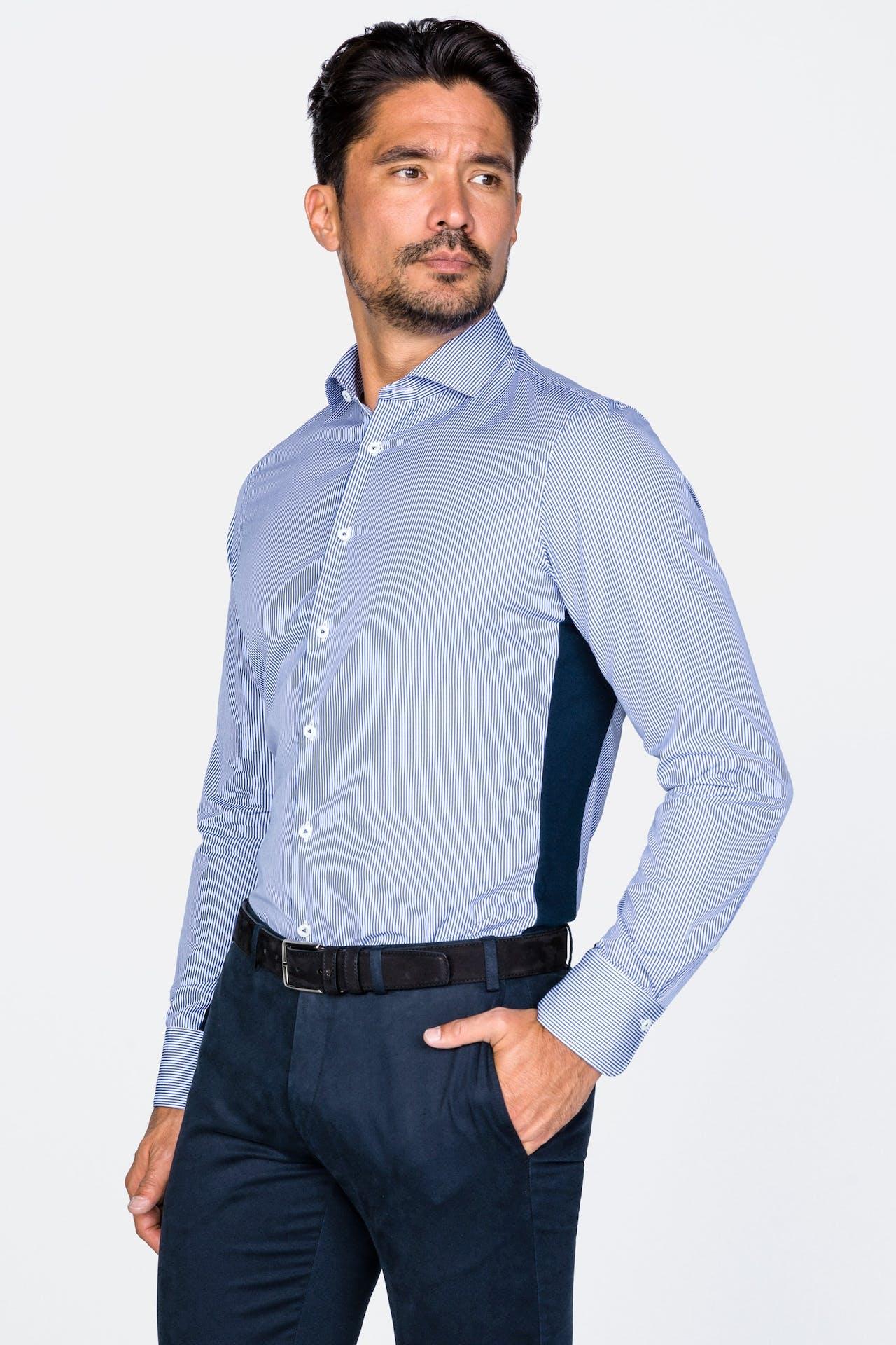 Hemd mit Jerseyeinsatz