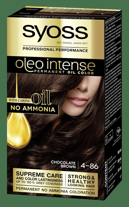 Боя за коса Syoss Oleo Intense Шоколадово кафяв 4-86 pack shot