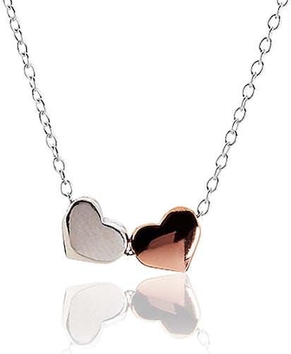 Ce Collier CLEOR est en Argent 925/1000 Multicouleur en forme de Cœur