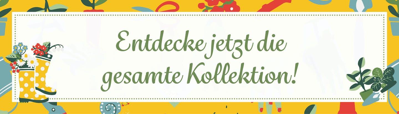 Gummistiefel-Print und Blümcen-Muster