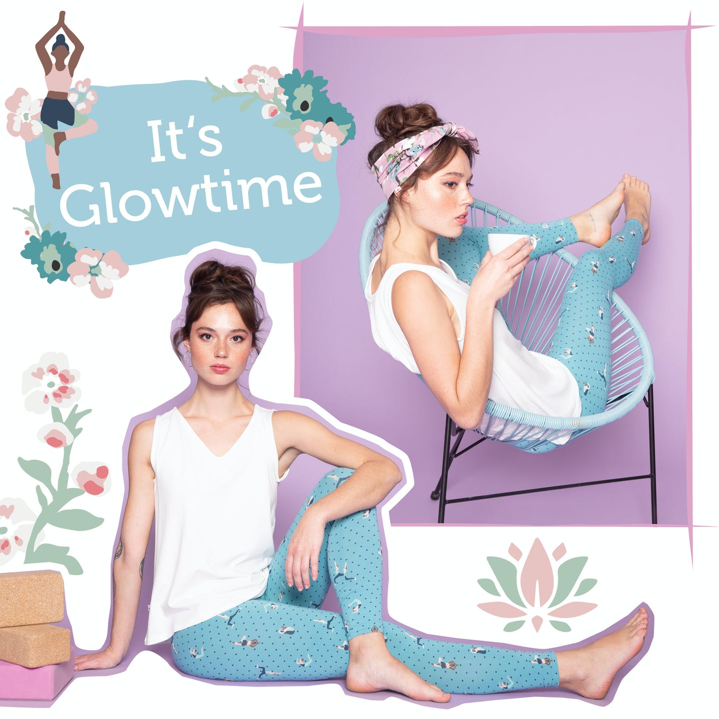 It´s Glowtime. Die Kollektion für alle Yoga Flowgirls