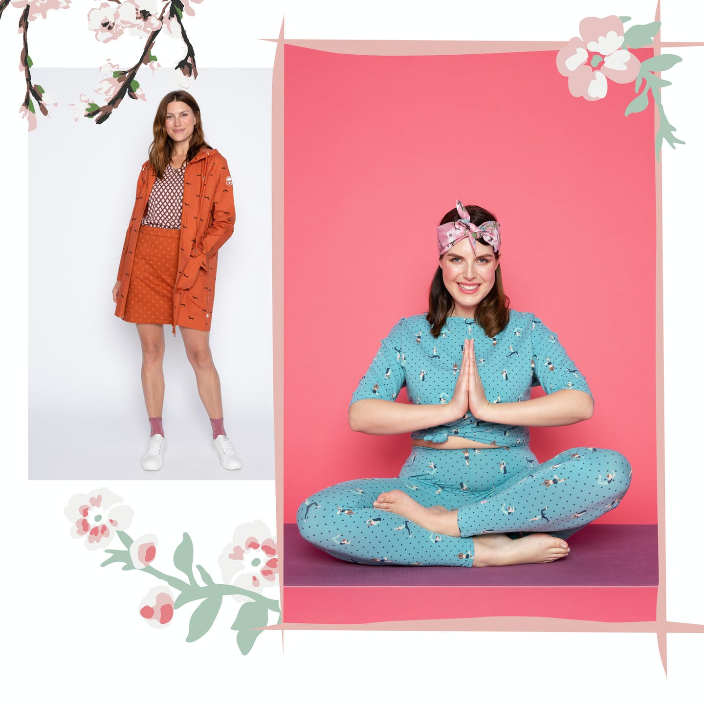 Yoga Flowgirls | om shanit | april coat