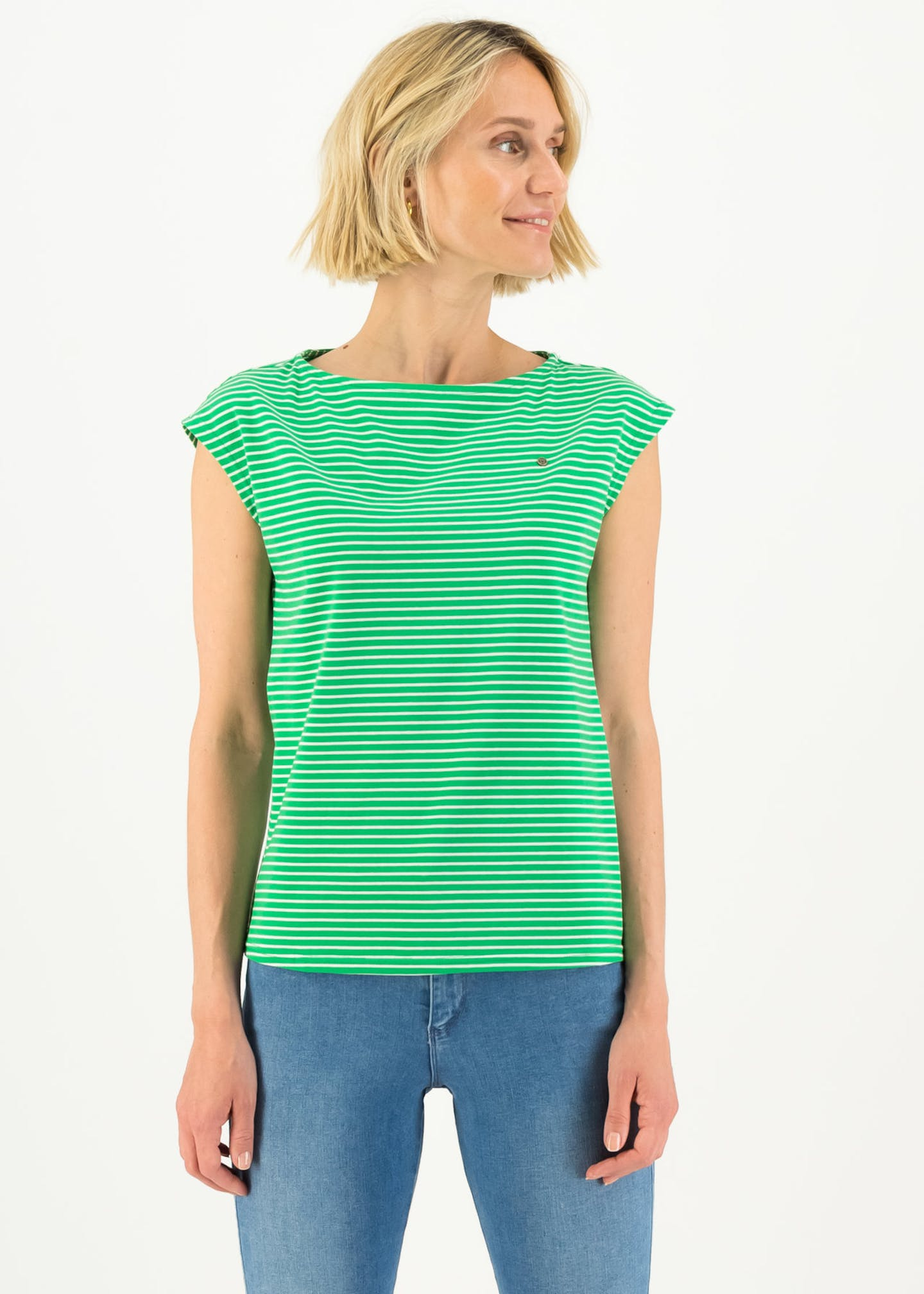 logo stripe top