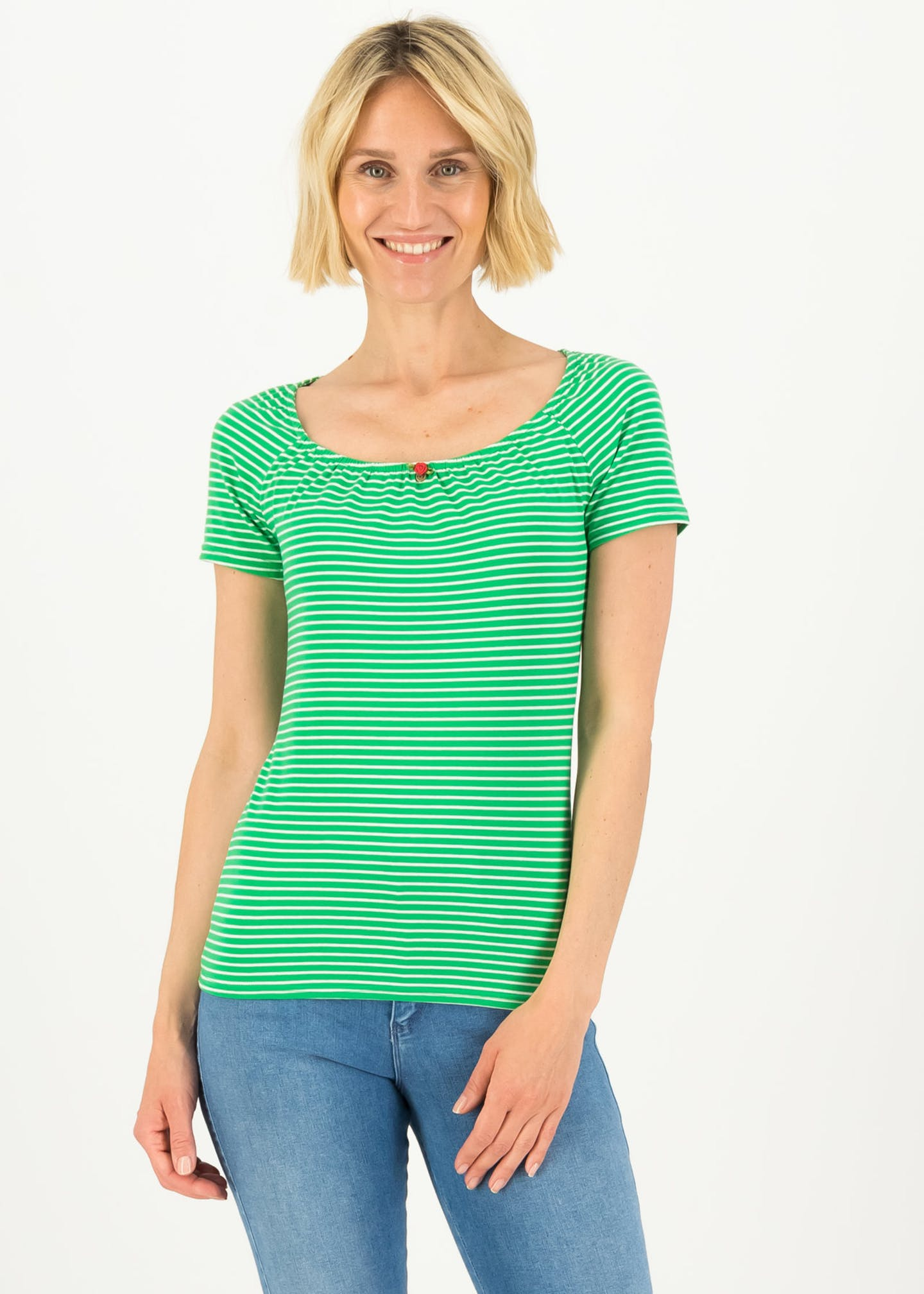 logo stripe heart t-shirt