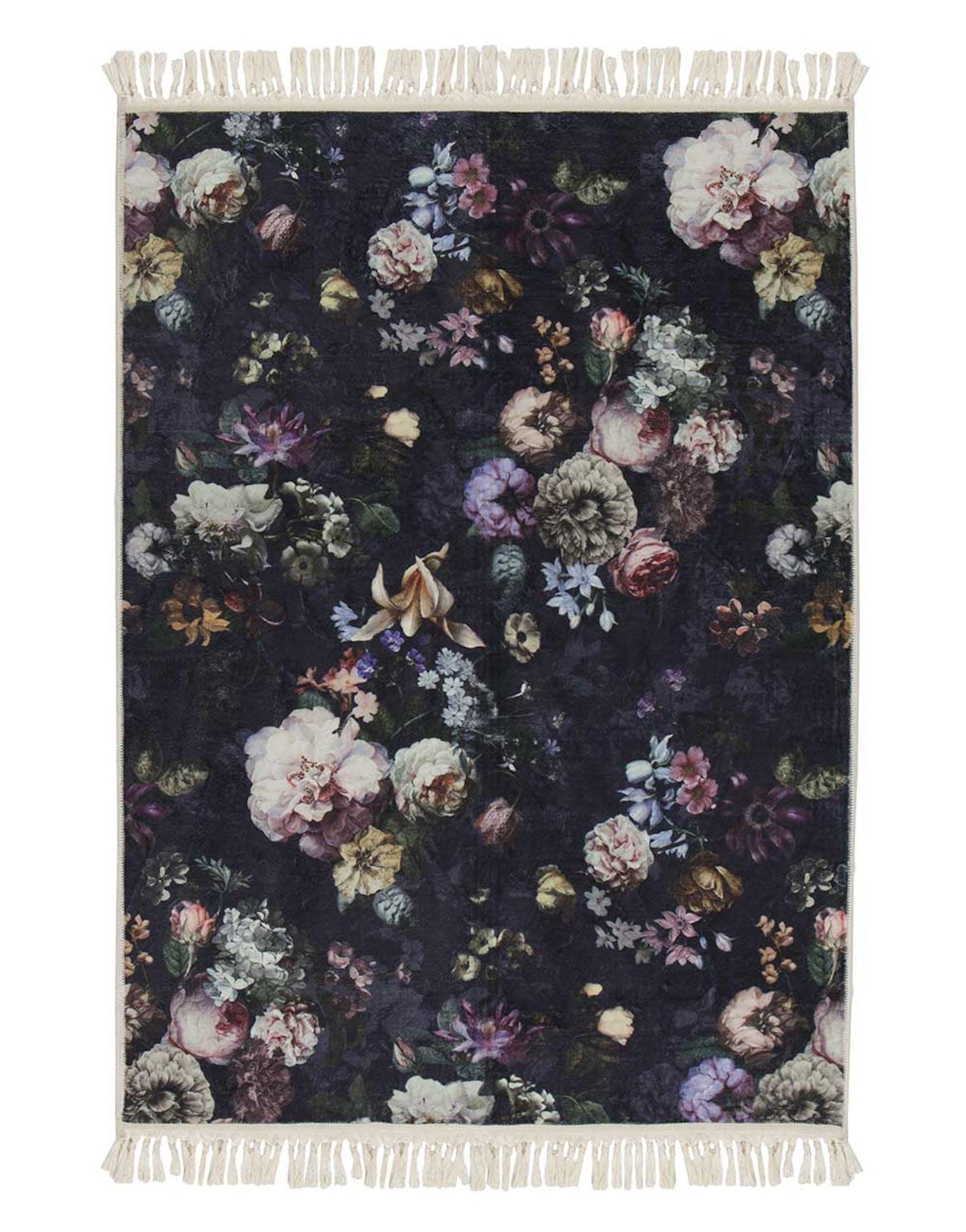 ESSENZA Fleur Vloerkleed Nachtblauw