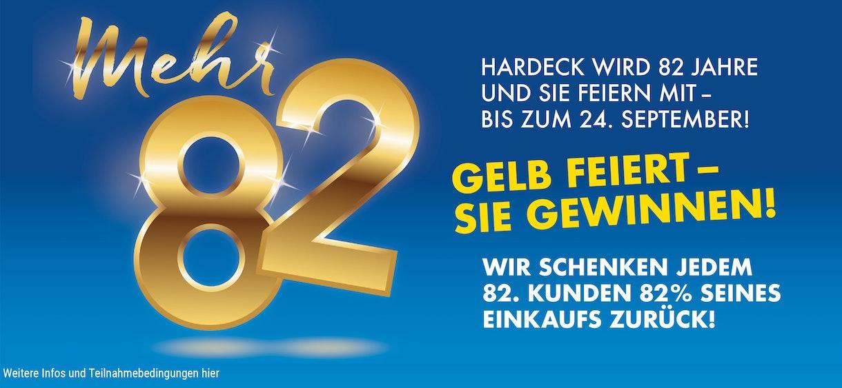 Mehr 82 – gelb feiert – Sie gewinnen