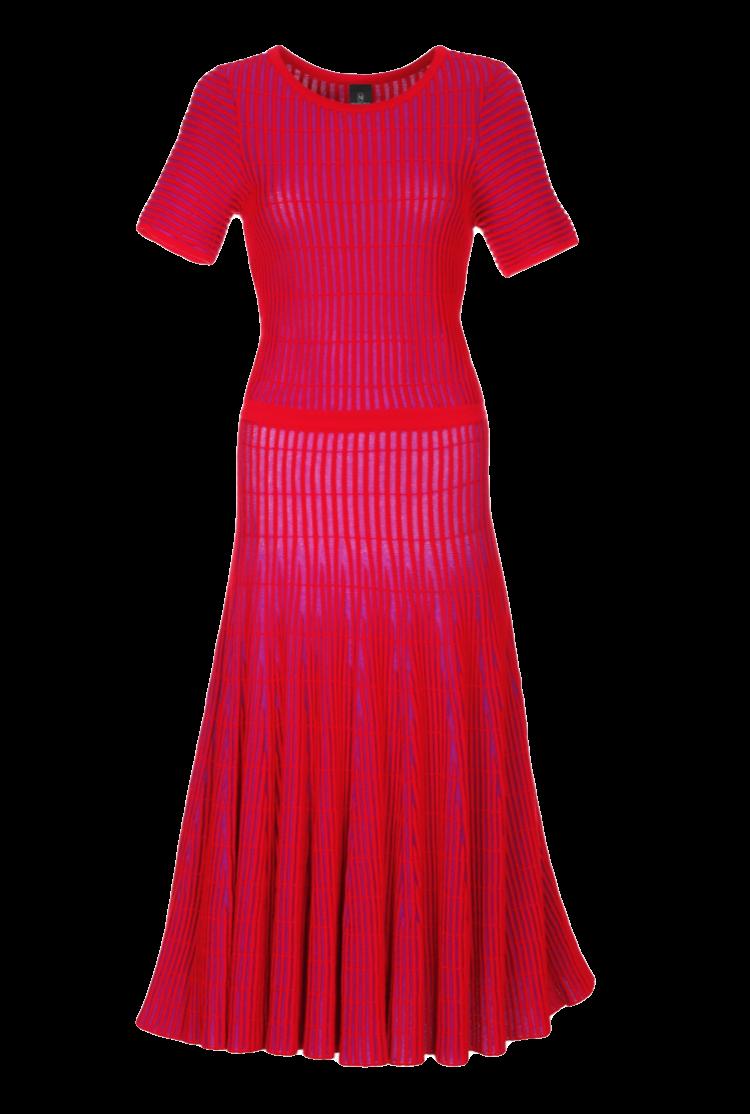 Weit schwingendes Kleid mit kurzen Ärmeln