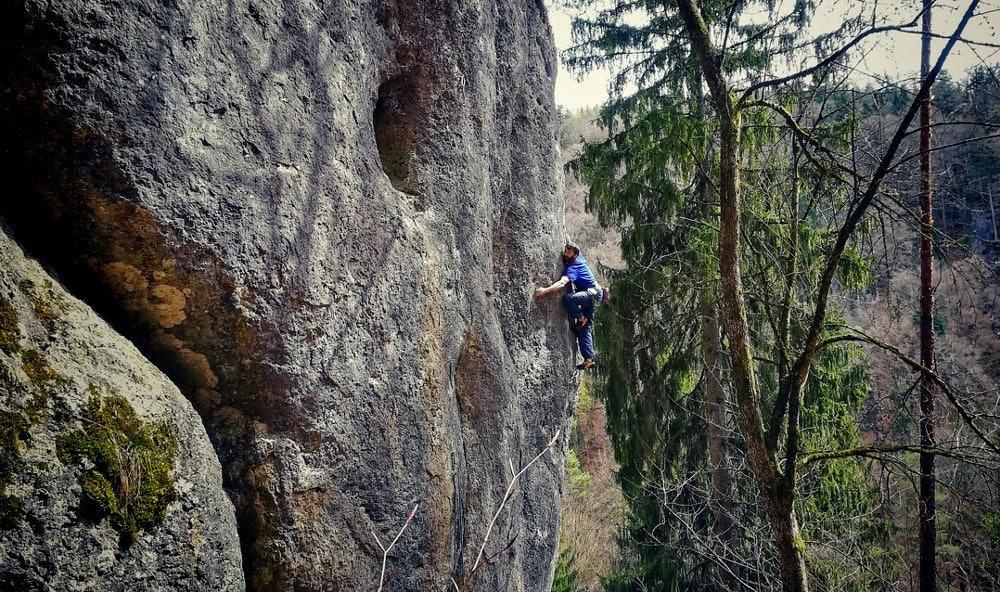 Klettergebiet im Frankenjura