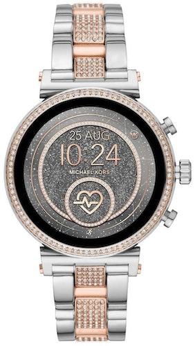 Cette montre connectée MICHAEL KORS ACCESS se compose d'un boîtier Rond de 42 mm et d'un bracelet en Acier Bicolore