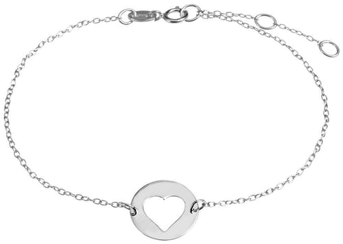 Ce Bracelet CLEOR est en Argent 925/1000 en forme de Cœur