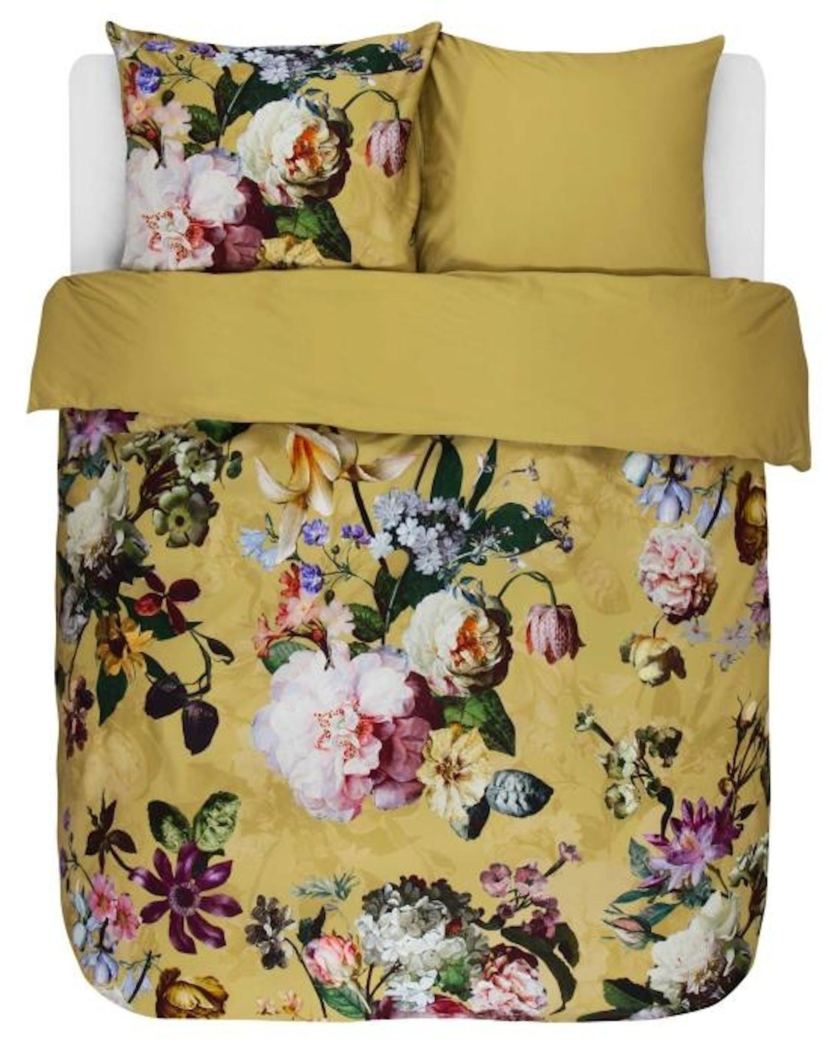 ESSENZA Fleur Dekbedovertrekset Gouden yellow
