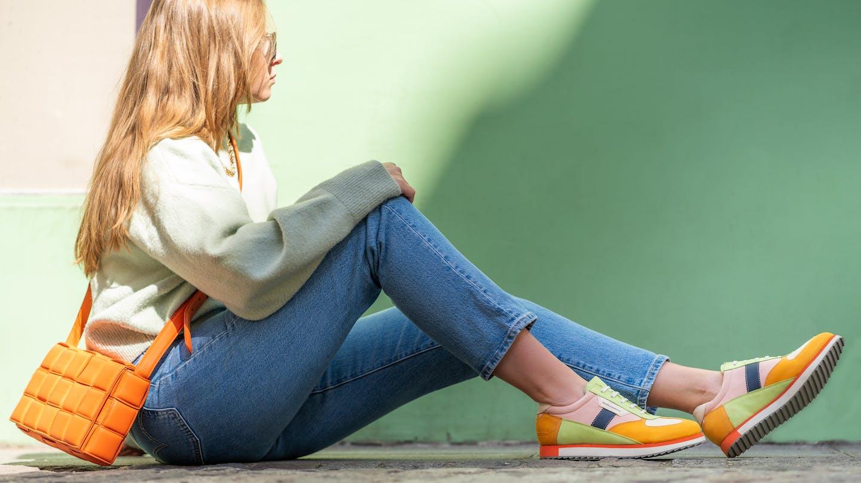 Farbenfrohe Leder Damen Sneakers Melvin & Hamilton