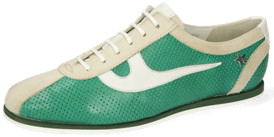 Pearl 1 Goat Suede Ivory Imola Perfo Green House Nappa White