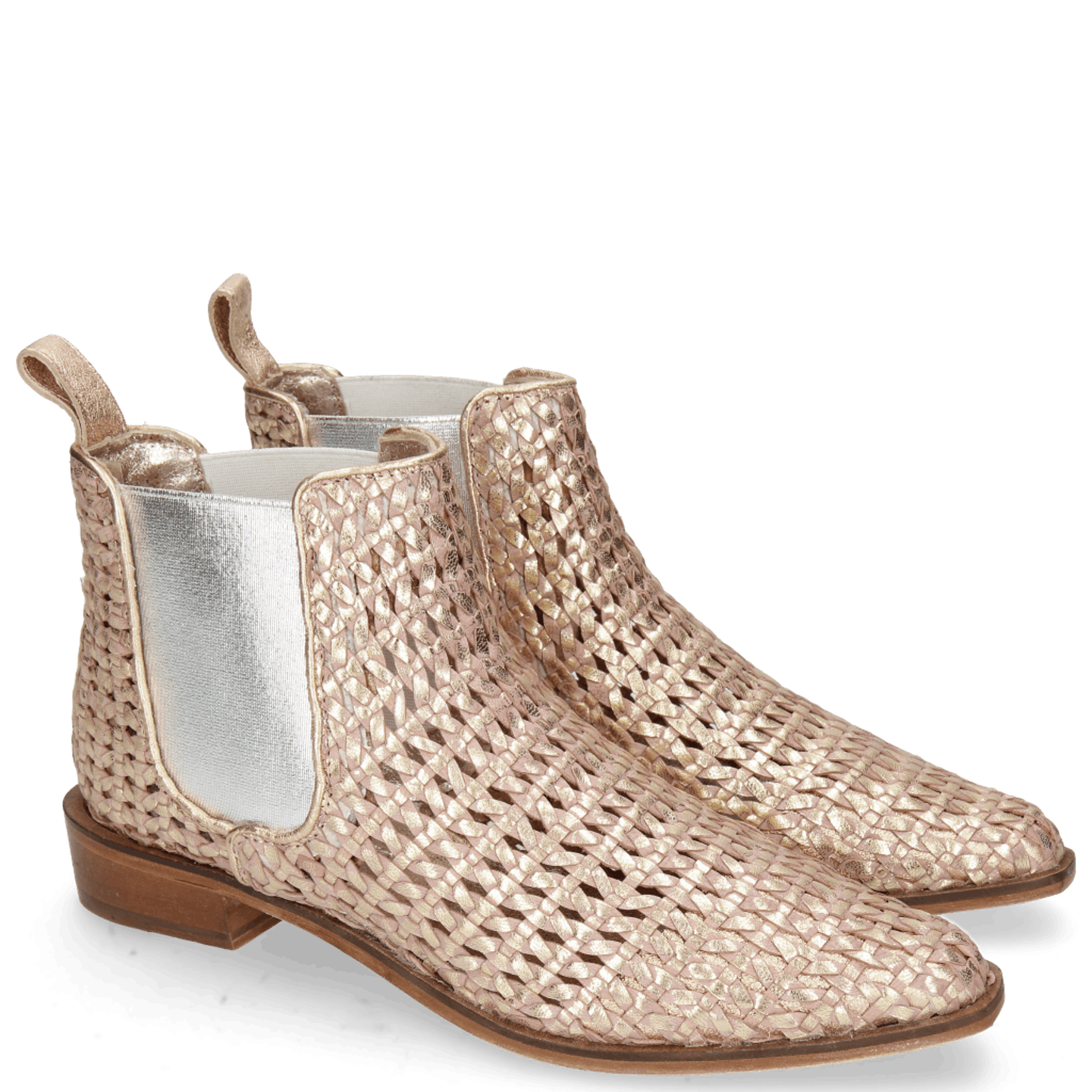 cowboy boot woven leather