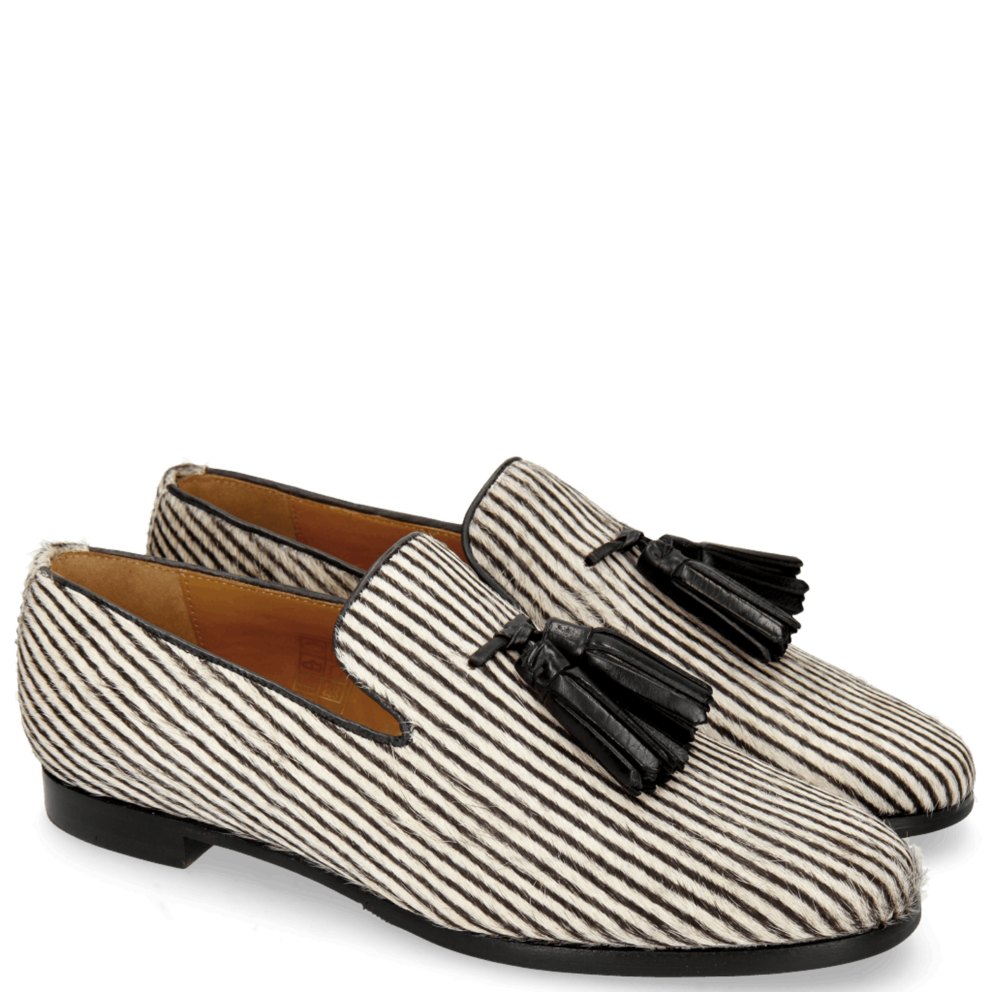 Scarlett 20 Hairon Stripes Black White
