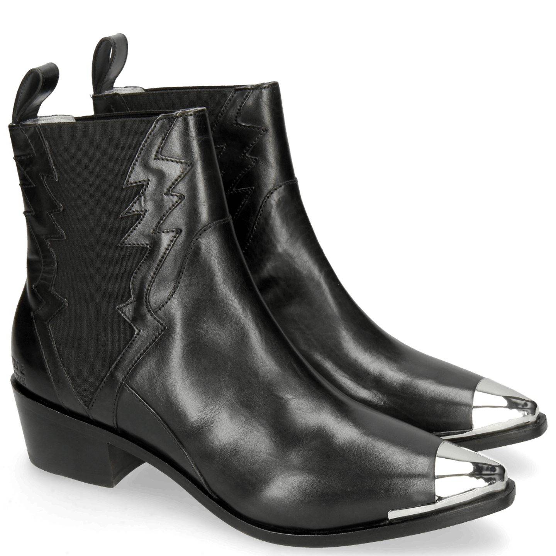 cowboy boots black gunmetal