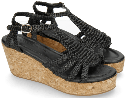 Sandalen aus geflochtenem Leder Hanna 55 Melvin & Hamilton