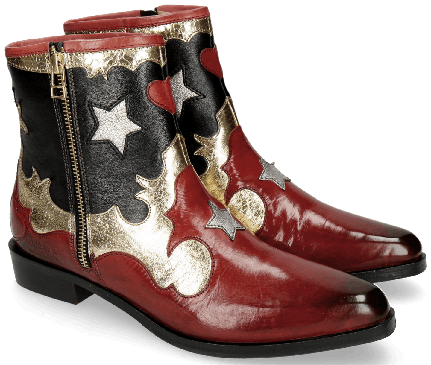 cowboy boot rouge
