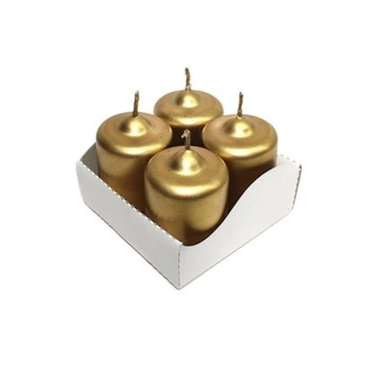 Adventi gyertya metál 4db/doboz arany