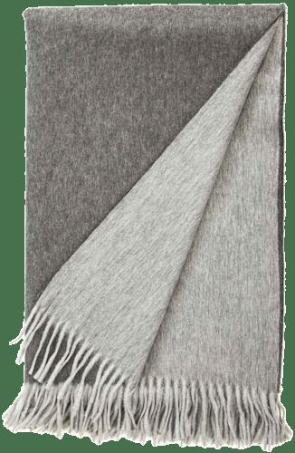 """Wohndecke """"Soft-Fleece"""" in Grau-Dunkelgrau"""