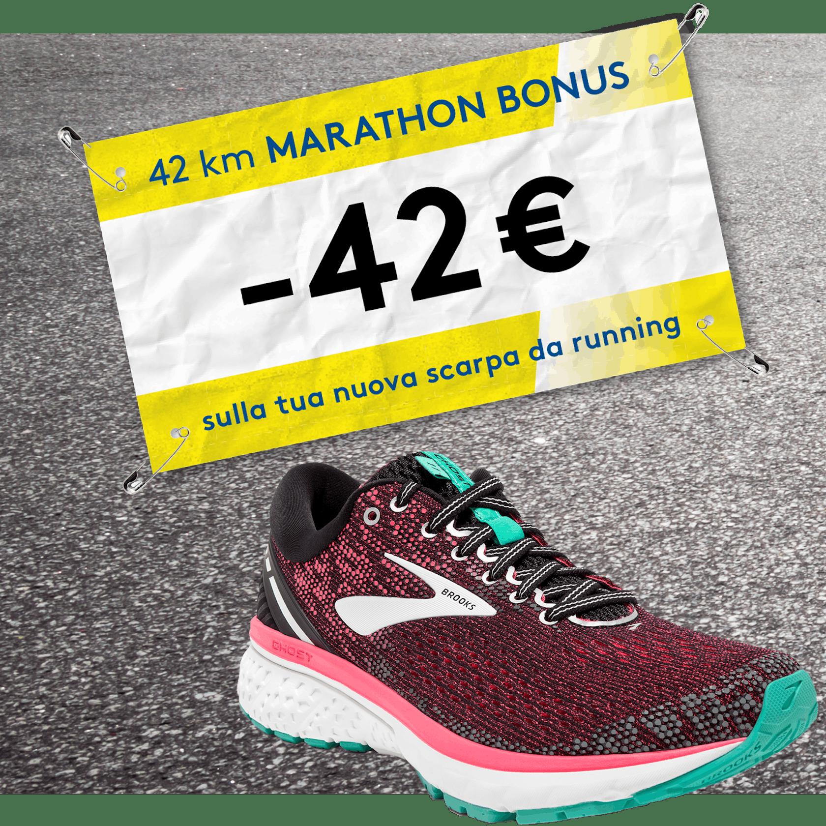 Running Marathon Bonus -42 Euro Brooks, On, Asics, Nike