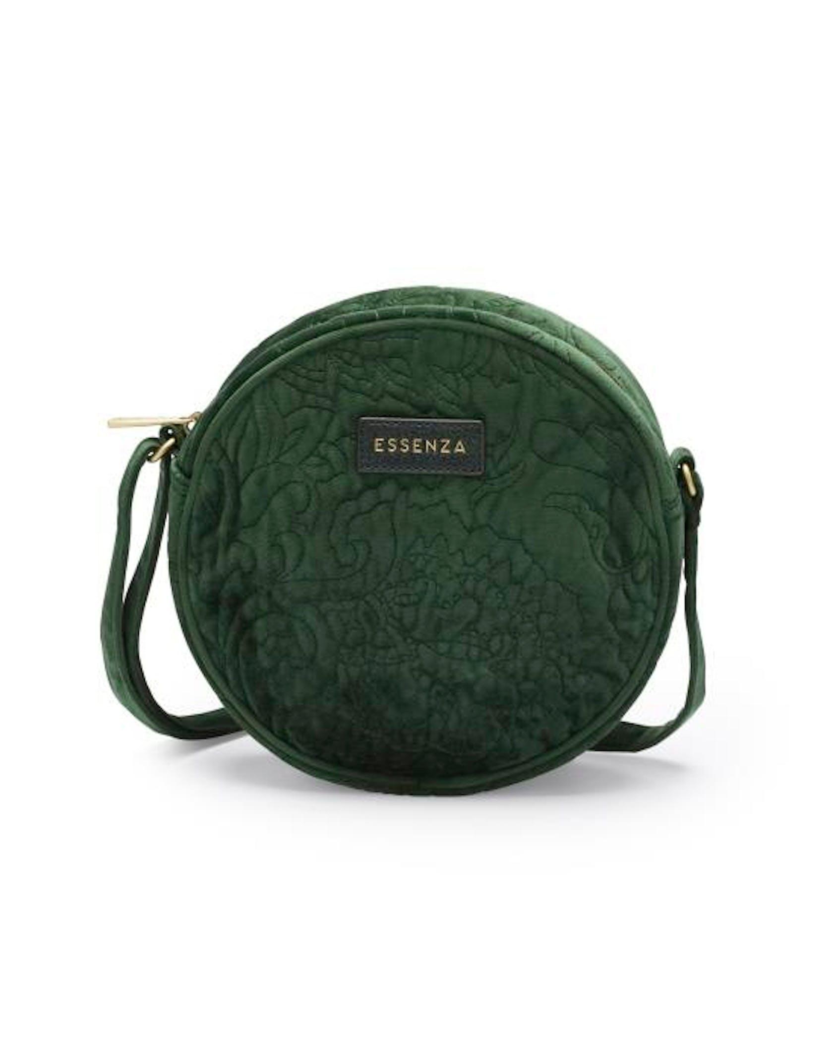 ESSENZA Reese Velvet Shoulder Bag Green