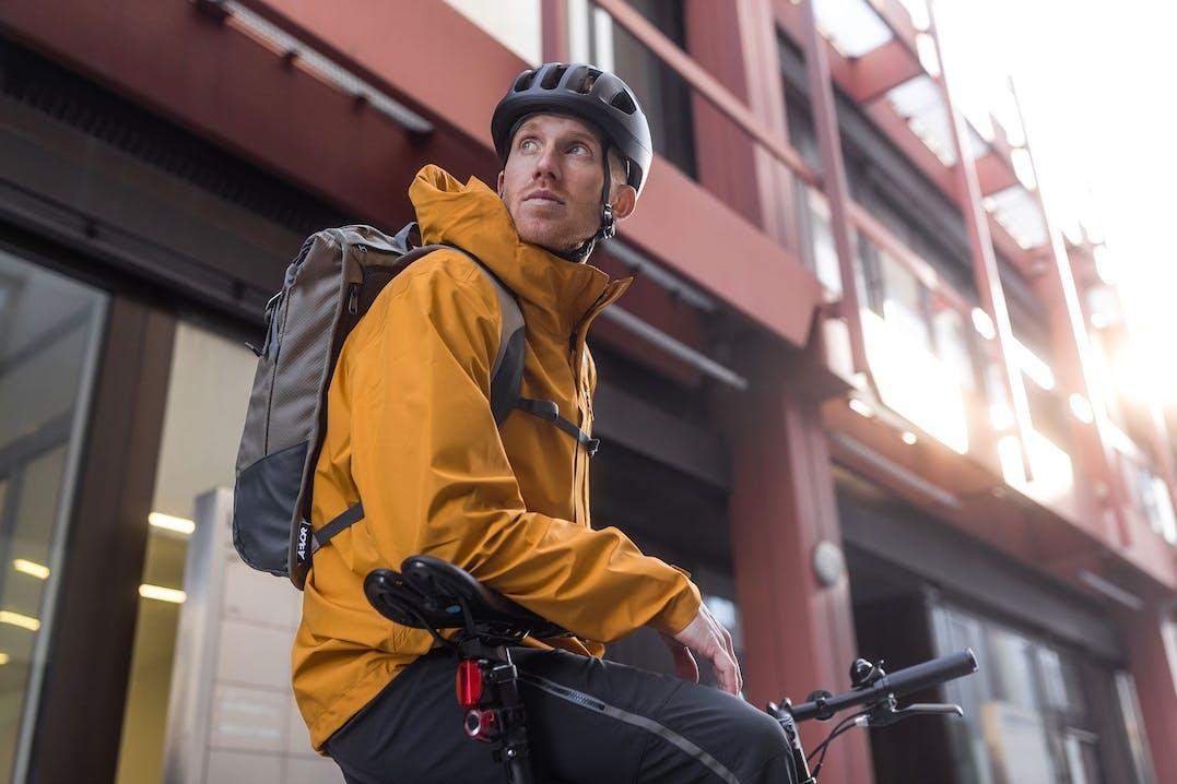 Fahrradfahrer in der City