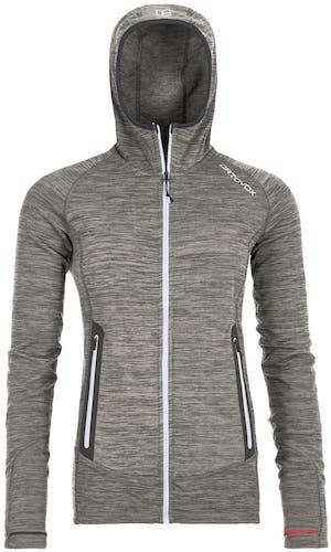 Ortovox Merino Fleece Light Melange - giacca in pile con cappuccio - donna