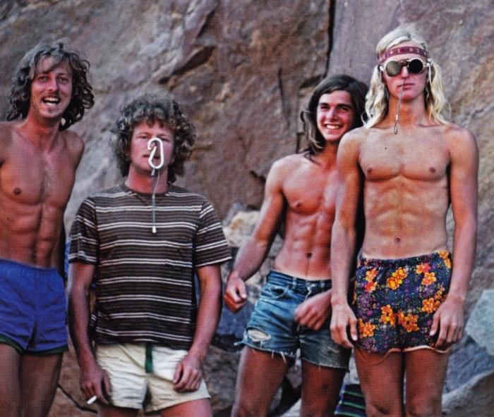 Eighties Legenden: Werner Braun, Jim Pettigrew, Ron Kauk und John Bachar. Männer die ihren Sport sehr ernst nehmen...