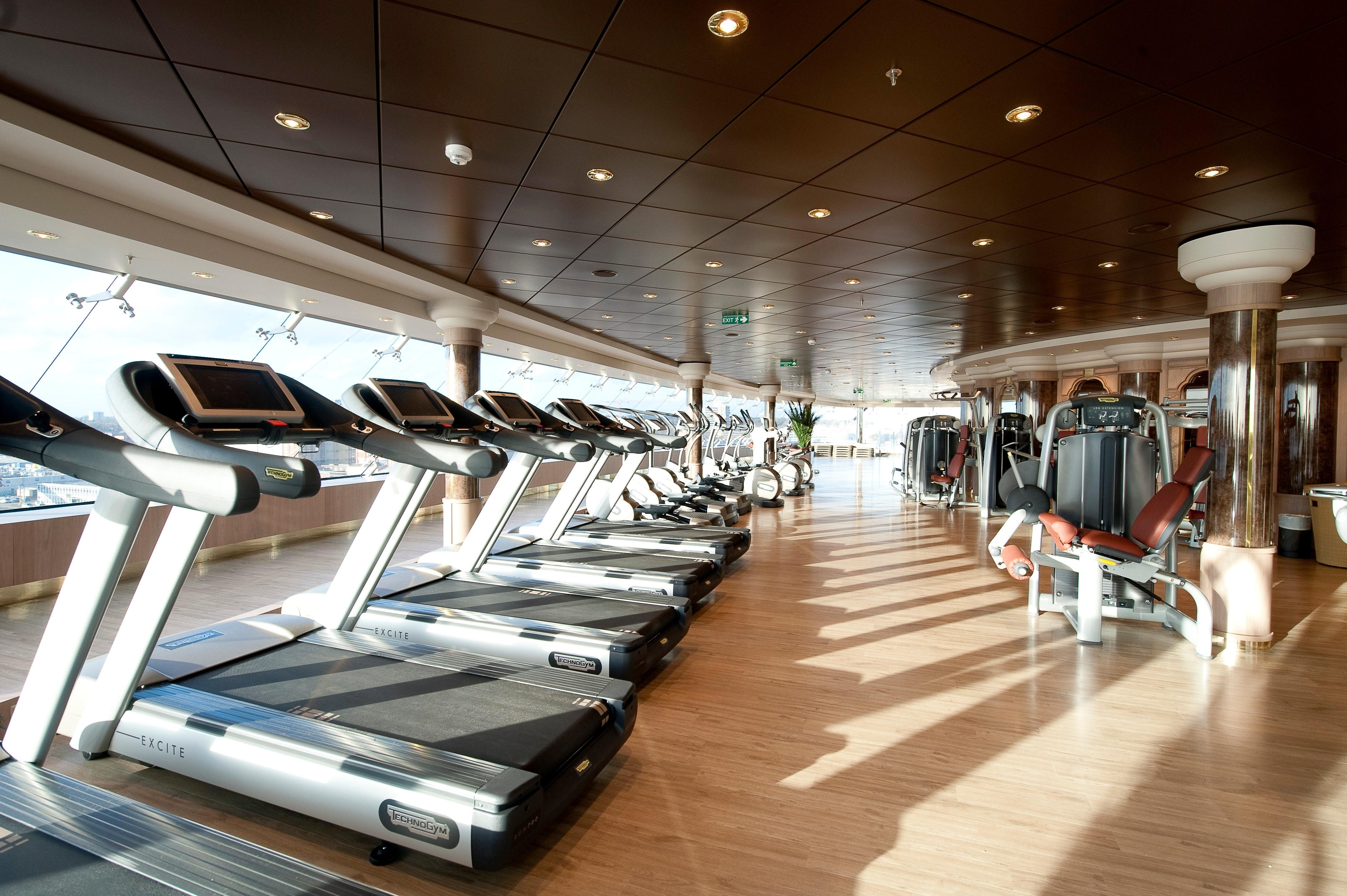 Der Fitnessbereich auf der MSC Magnifica.