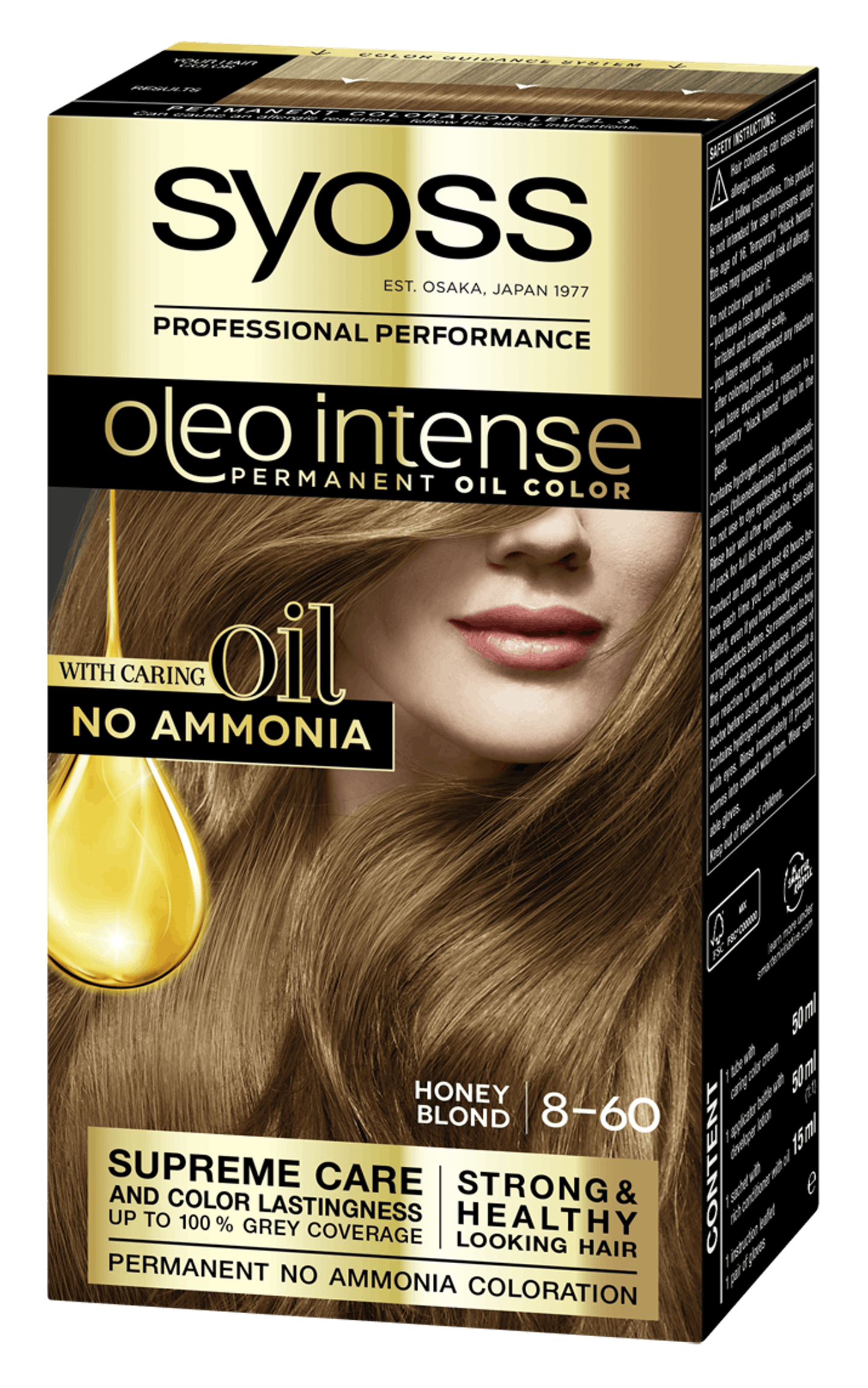 Syoss Oleo Intense Permanent Oil Color 8-60 Honey Blond