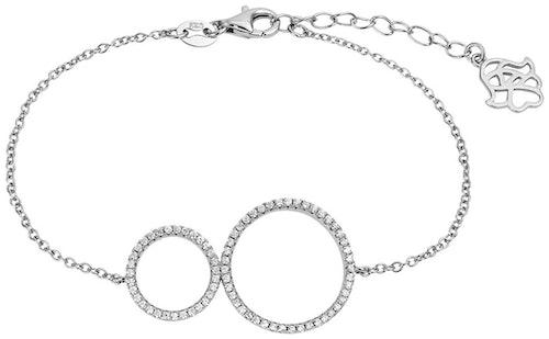 Ce Bracelet ARBELO est en Argent 925/1000 et Oxyde Blanc