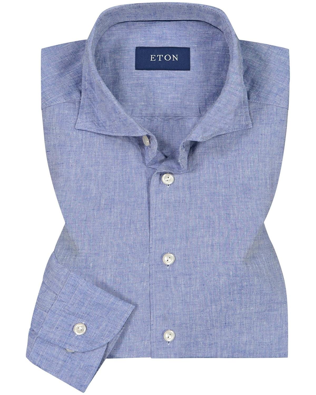 Casualhemd Eton, Slim, Blaues Hemd, High Summer Collection Eton, Lodenfrey, Munich