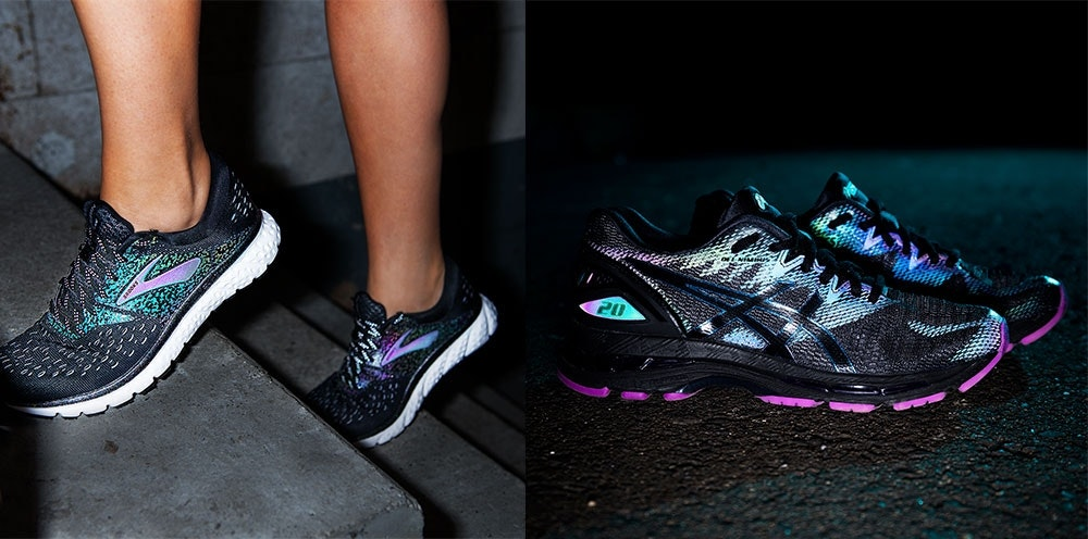 Reflektierende Laufschuhe erhöhen die Sichtbarkeit im Dunkeln