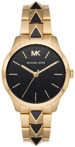 Cette montre MICHAEL KORS se compose d'un boîtier Rond de 38 mm et d'un bracelet en Acier Bicolore
