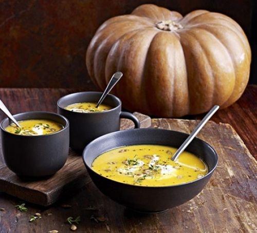 Creamy lentil and pumpkin soup