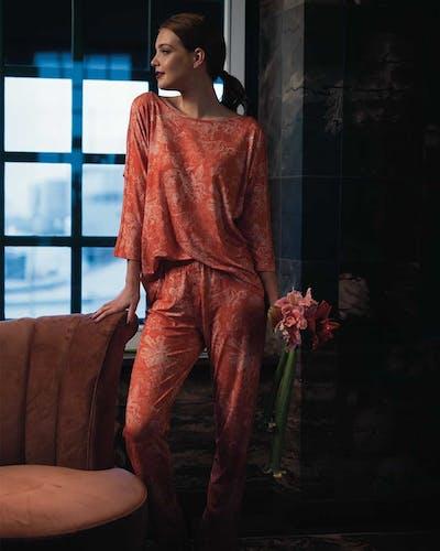 ESSENZA Schlafanzug Pyjamahose Vivienne mit Blumenmuster