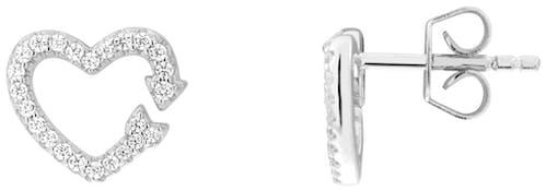 Boucles d'oreilles CLEOR en Argent 925/1000 et Oxyde
