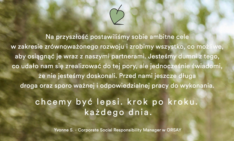 Produkty przyjazne środowisku Orsay