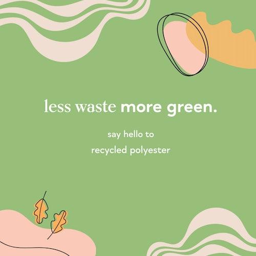 zrównoważony rozwój - poliester z recyclingu