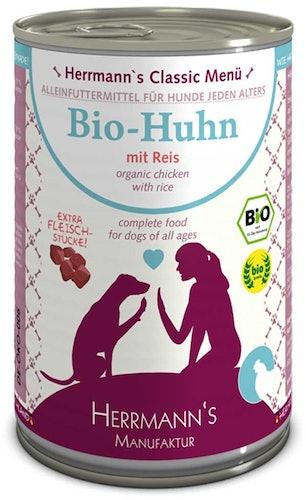 Herrmann's - Nassfutter - Bio-Huhn mit Reis (glutenfrei)