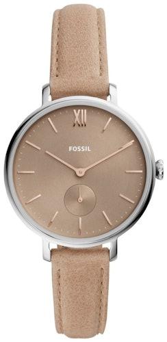 Cette montre FOSSIL se compose d'un boîtier Rond de 36 mm et d'un bracelet en Cuir Beige