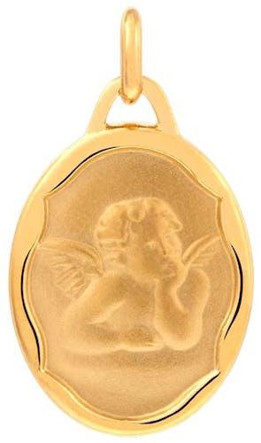 Cette Médaille CLEOR est en Plaqué Or en forme d'Ange