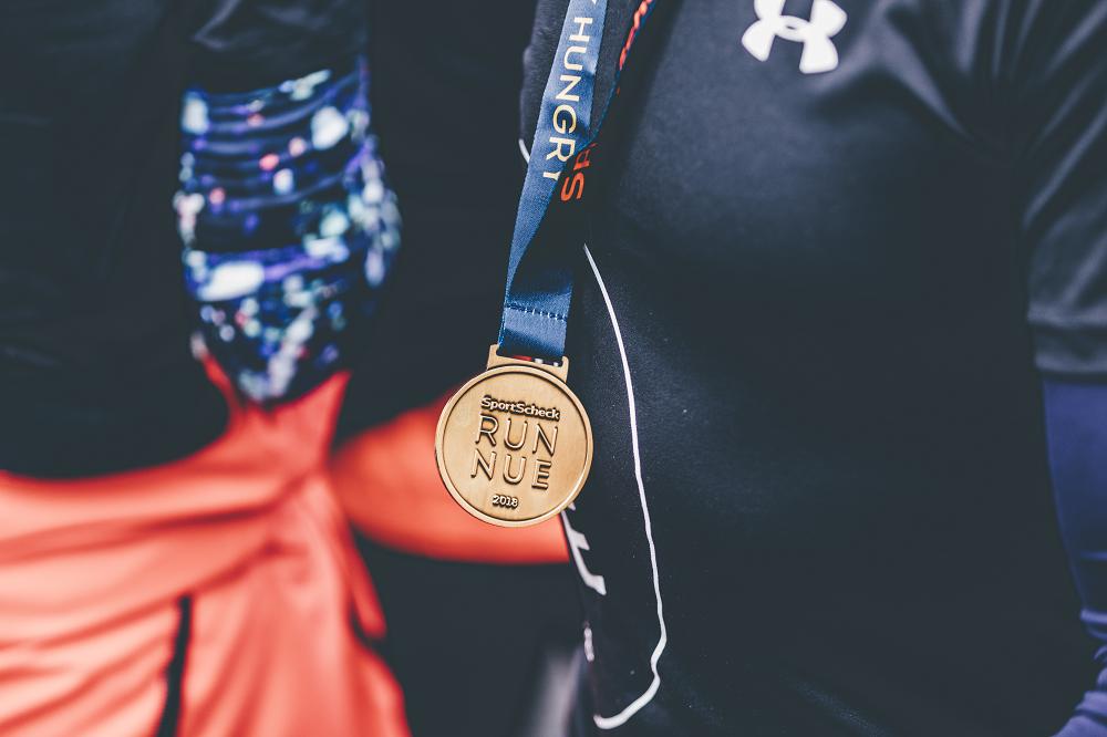 Medaille beim SportScheck Lauf in Nürnberg