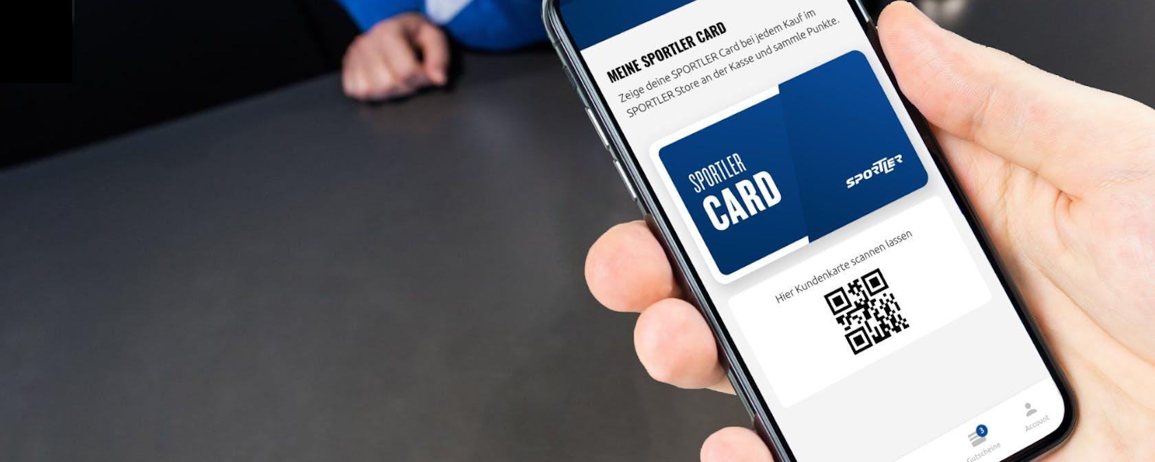 SPORTLER Card - App View