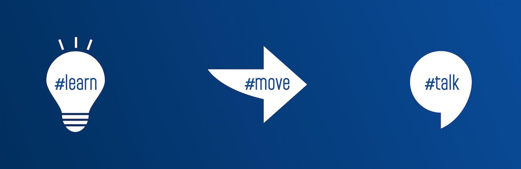 #learn #move #talk