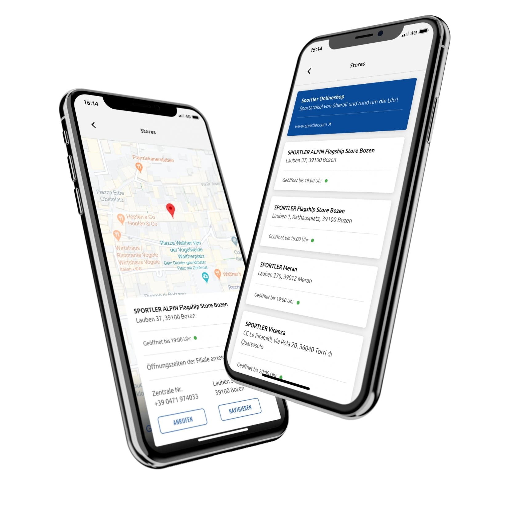 SPORTLER App store locator